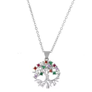 New crystal tree of life necklace